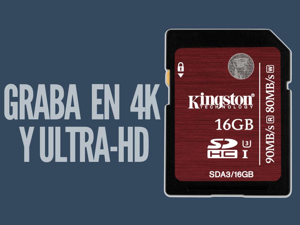 kinstong SDHC SDXC UHS-I Velocidad Clase 3