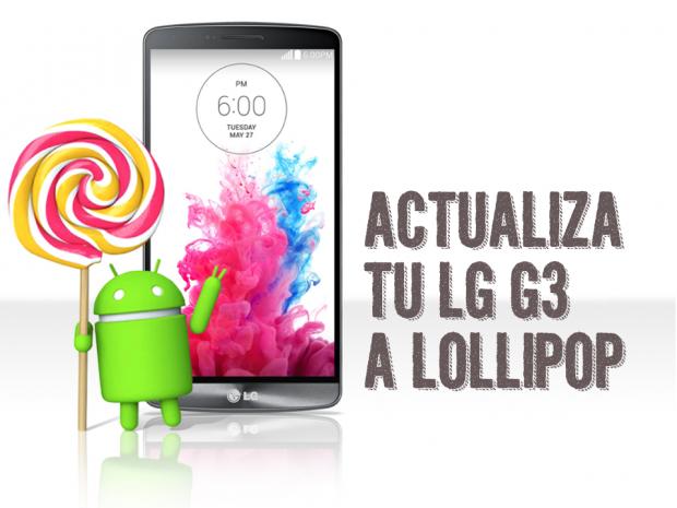 Actualiza LG g3 Lollipop