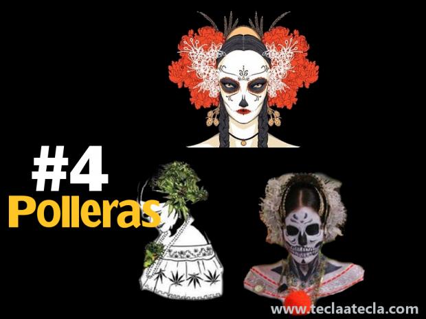 4 Polleras TeclaAtecla
