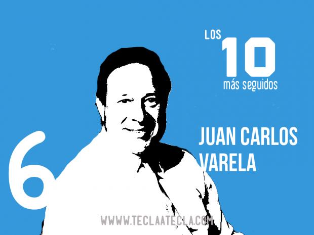 Juan Carlos Varela- Los 10 más seguidos en Redes Sociales