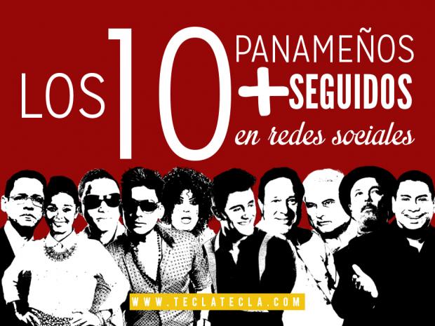 los 10 panameños más seguidos en redes sociales